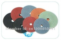 "Полировальник 7pcs, 4"" diamond polishing pads, Spiral Type Flexible Wet Polishing Pads for granite and marble"