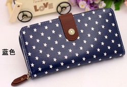 two colors Brand 2012 Canvas PVC film stars card holder lady's/women's wallet purse/cute new popular clips18*9*3cm free shipping(China (Mainland))