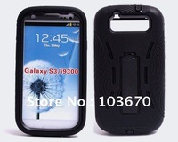 Galaxy S3 Case, Heavy Duty Shock Proof Silicone Plastic Stand Case for Samsung Galaxy S3 SIII i9300, Free Shipping 10pcs/lot