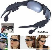 New 2GB Black Headset Wilreless Sunglasses Sun Glasses MP3 Music Player