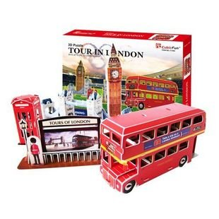 Free shpping CubicFun 3D puzzle London 2012 tourist souvenir-London Olympic Games,DIY Cabin,Birthday gift,jigsaw puzzle C126h