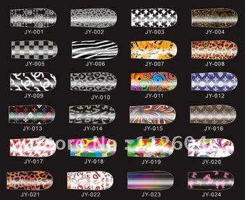 CPA 100 sets 12 pcs/set Brilliance Shiny Self Adhesive Minx Nail Sticker NEW Nail Patch Art Product
