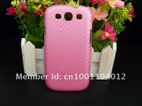 10PCS/lot Carbon Fiber Hard Plastic Back Case Cover for Samsung Galaxy  i9300 SIII S III S3 S 3C01  6Colors