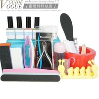 Nail art toiletry kit deluxe finger repair set 23