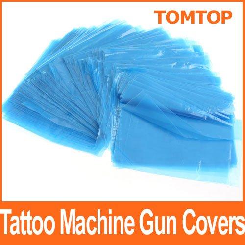 Тату аксессуары 500 PCS Disposable Tattoo Machine Covers Tattoo Gun Bags Sleeves 130 * 130mm