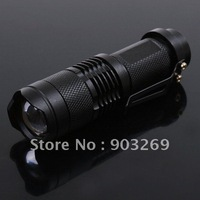 Mail Free + 1PC SA-3 Mini Flashlight 300 Lumens 7W CREE Q5 LED Flashlight 3 Mode Adjustable  Waterproof ZOOMABLE Torch