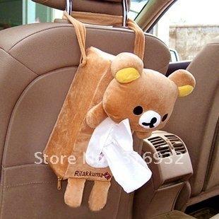 U4  Free shipping auto using tissue holder, Rilakkuma tissue box, car accessories