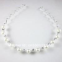 bridal Pearl headband with crystal tiaras wedding