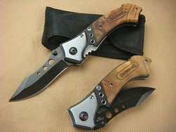 BROWNING - Three Eye Camping Folding Knife Line Locks 56HRC 440C Free Shipping (120g)(China (Mainland))