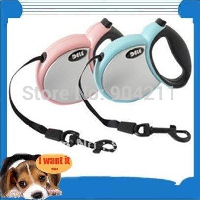 30-50kgs! Pet training flexible leash, DELE 3/4/5 meters harness, dog chain, dog lead, dog leash(China (Mainland))