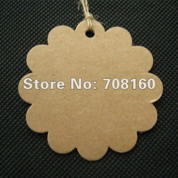 Wholesale Kraft Paper Blank price Hang tag Retro Gift Hang tag 500pcs/lot Free shipping(China (Mainland))