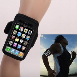 5pcs/Lot Black Sport Waterproof Armband Cover Case Bag For Iphone 4 4G, Workout Running Arm Band Cases for iphone, Free Shipping(China (Mainland))