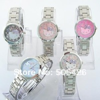 Free Shipping Wholesale Mixed 10pcs/lot Hello Kitty Girl/Lady ODM LED Kids chilren Wristwatch GK#M