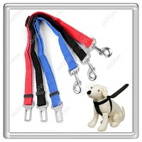 S5Q Dog Pet Safety Seat Belt For Car Van Lock Adjustable Lead Restraint Chain