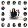 Hot sale !!!18PCS  Michael Jackson  Pin button badge 30mm Guaranteed 100%  !!! Safety pin