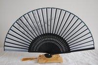 [China Confucian ] Free Shipping silk hand fan+hand painted blossom silk fan, silk lady fan&tassel