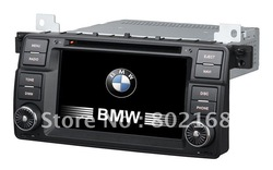7 inch1din Car radio multimedia dvd player system for BMW E46 BMW 3 Series with dvd/bluetooth/radio/gps/iphone/ipod/6CD function(China (Mainland))