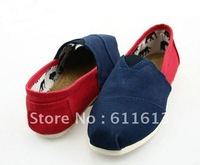 free shipping style Spell color  Canvas shoes (5 pairs /lots)5 Pieces