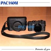 Black Leather Camera Bag Case For Fujifilm FUJI Finepix X10 LC-X10 New Arrival