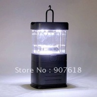 Free shipping!! portable 15 LED Bivouac Camping Lantern Light Lamp Tent Fishing Plastic /Continuous light up 40 hours