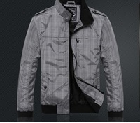 men' s jacket  men's coat Free iron Plaid fabric