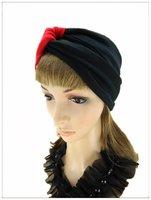 J--free shipping, wholesale/Retail  ladies fashion creative turban, 100% cotton elastic creative headwear 2012
