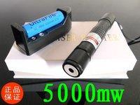 New 5000mW  laser   green laser pointer flashlight / burning laser torch BURN matches free ship  532nm
