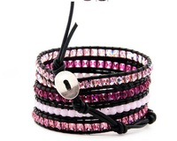 New Arrival vintage Style weaving leather wrapbracelet african jewelry crystal bead bracelet, Free Shipping CL108