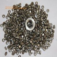 500pcs/lot DIN934 M6 Titanium hex nut DHL/UPS FREE SHIPPING