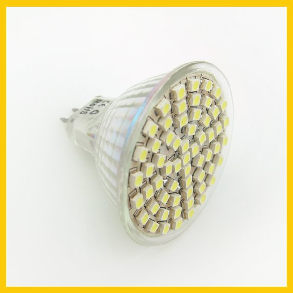 Free Shipping 400LM 4W MR16 60 SMD 3528 LED Bulb Spot light 12V Best price LED0029(China (Mainland))
