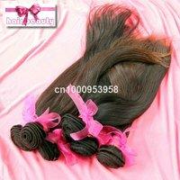 3pcs/lot Peruvian  natural hair extension virgin remy silky hair weaving