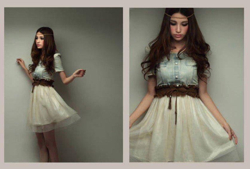 Фото девушки в платье романтического стиля