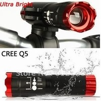 Cycling Bike Bicycle Flashlights CREE Q5 Led Front Light Torch Mount Holder Clip 2pcs