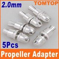 5pcs 3.0mm RC Aluminum Bullet Propeller Adapter Holder for Brushless Motor Prop Freeshipping Dropshipping wholesale