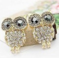 Personality over drilling cute owl delicate wild earring fashion Free Shipping   Hot Sale