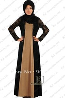 lace fashion islamic women clothing muslim long styled dress modest patttern