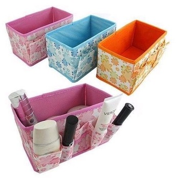 Min Order $20 (mixed order)  Retail Folding Cosmetics Storage Box Desktop Storage Box  (KG-01)
