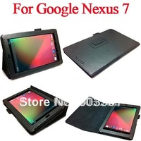 10pcs/lot PU leather stand case for Google Nexus 7 tablet pc, accept mix colors, for google tablet pc cover case, free shipping