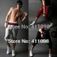 Free Shipping Men's Harem pants  black,red,white,grey S-XXLwholesale and retail