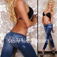 hot selling jean look leggings pants tight pant  H0007