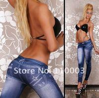 hot selling jean look leggings pants tight pant  H0005