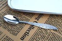 12 pcs/lot Super mini spoons11cm / 4.33 inch Silver petiole spoon tea spoon coffee spoon