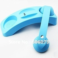 30pcs/lot Bluetooth Retro Phone Handset with Phone Holder and Volume Control in Five Colors Black/Blue/Rose Red/Yellow/Red