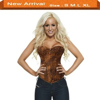 1012BLACK - BUSTIER , Size : S, M , L , XL  ,  Black Corset with Silver Sequin Trim - Showgirl Corsets