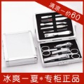 free shipping 777 nail clipper set nail art manicure set finger cut finger plier set 2012 new