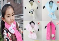 baby fashion cartoon scarf wool collar wraps kids warm winter character neckerchief children clothing free shipping