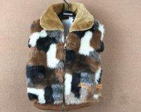 HOT baby children winter Vest boys girls Leopard Zipper Waistcoats warm Outerwear overcoat baby wear clothing free shipping