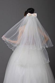 Bridal veil bride bow hair accessory veil wedding dress formal dress accessories q9