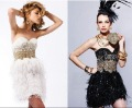 2012 White Sweetheart Cocktail Dresses with Mini Length and Feather Skirt SH3804