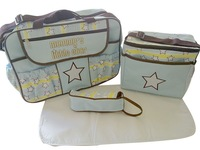 High-quality large-capacity Mummy package large expectant bag Messenger nappy bag, 2bag+bottle + changing mat